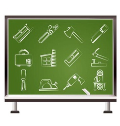 Chalk woodworking industry vector