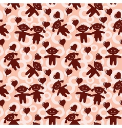 Children seamless valentine background vector image vector image
