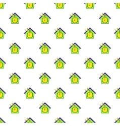 Cuckoo clock pattern cartoon style vector