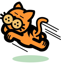 Fun Cartoon cat vector image