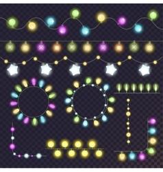 Garland light bulbs set vector