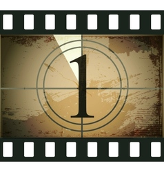 Grunge film countdown vector