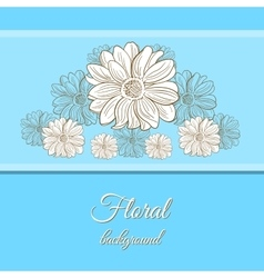 Hand Drawn Camomiles Background vector image vector image