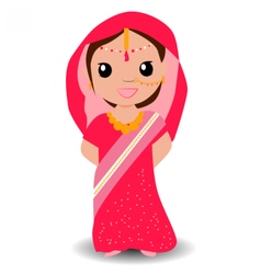 Indian girl vector image