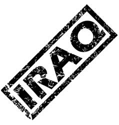 Iraq rubber stamp vector