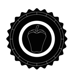 Isolated apple round icon vector