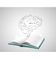 Isolated human brain sketch vector image