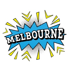 Melbourne comic text in pop art style vector