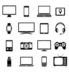 modern electronic gadgets icons vector image vector image