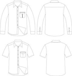 Outline shirt vector