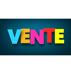Paper vente sign vector image