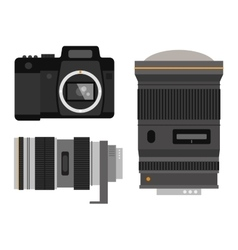 Photo optic lenses set vector image vector image