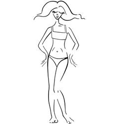 pretty woman in bikini or swimsuit vector image vector image