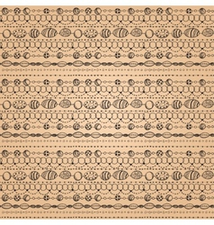 Seamless pattern with lacy design vector image vector image