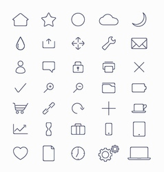 Set of mobile icons vector