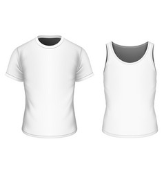 T-shirt and singlet for boys vector