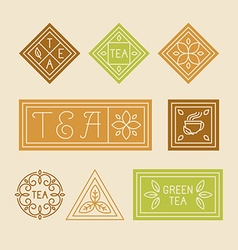 Tea package design elements vector