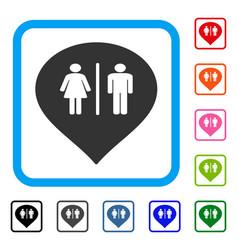 Toilet marker framed icon vector