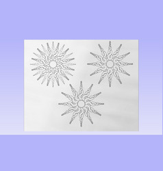 twirly suns vector image vector image
