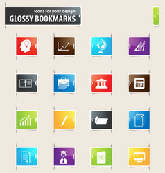 University bookmark icons vector