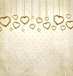 Vintage Valentines Background vector image