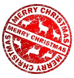 Merry Christmas stamp vector image