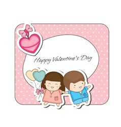 Doodle couple valentines vector