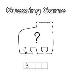cartoon bear guessing game vector image