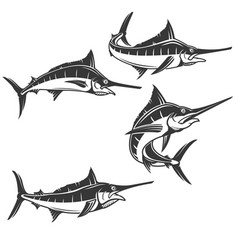 swordfish icons isolated on white background vector image