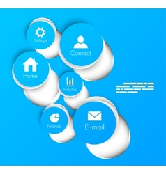 Site template vector image