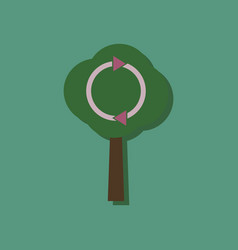 flat icon design collection tree and air vector image