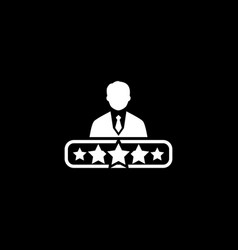 Quality management icon flat design vector