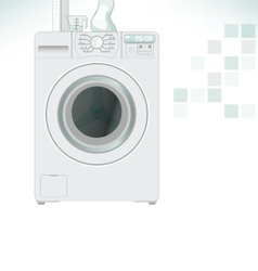 Clothes washer vector