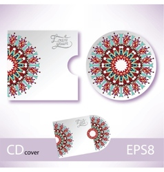 CD cover violet colour design template vector image