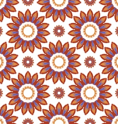 Pattern abstract sunflowers vector