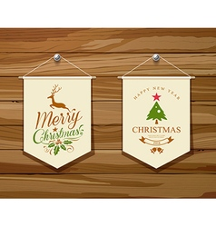 Merry christmas flag concepts design set vector