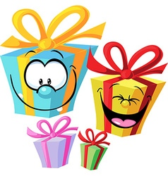 Gift - funny vector image