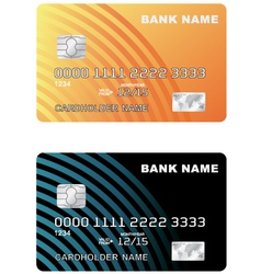 A plastic credit card vector