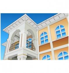 balcony vector image