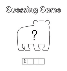 cartoon bear guessing game vector image