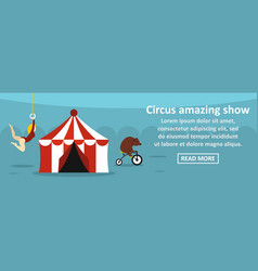 circus amazing show banner horizontal concept vector image