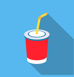Coca-cola icon in flat style for web vector