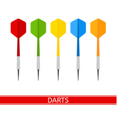 darts isolated vector image vector image