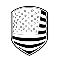 Emblem of flag united states of america in vector