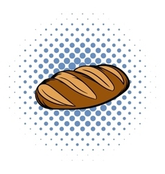 Fresh bread can comics icon vector