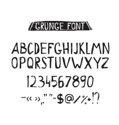 Grunge tough simple font Universal alphabet vector image