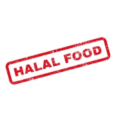 Halal food text rubber stamp vector