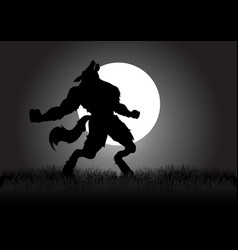 howling werewolf vector image vector image