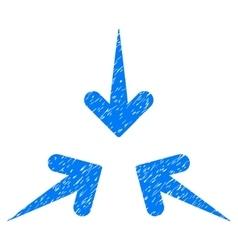 Impact arrows grainy texture icon vector