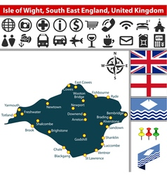 Isle of wight south east england vector